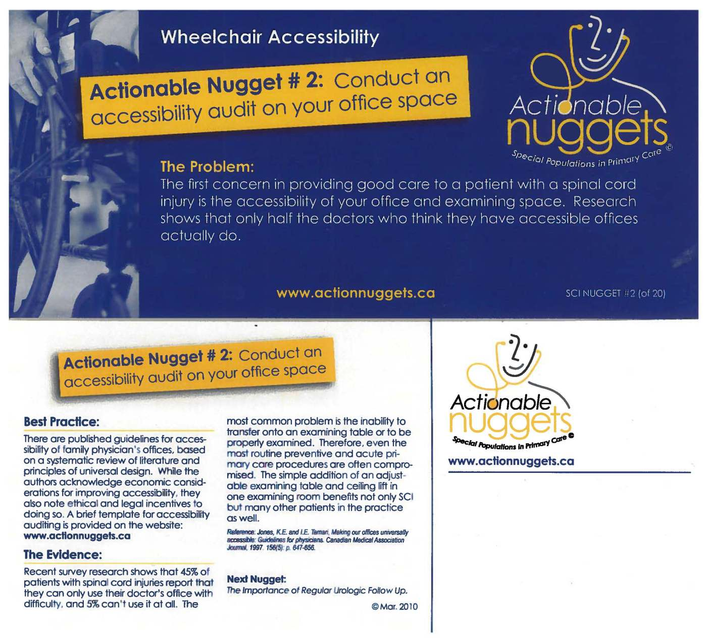 2. Wheelchair Accessibility – Actionable Nuggets