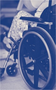 Woman using wheelchair